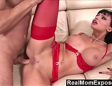 RealMomExposed - Horny secretary loves a cock up her ass
