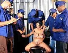 Mature mom gang fucked in prison