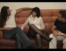 Miriam (Myriam) Gold: erotic masturbation with two men.