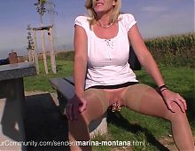 German Mature woman with extreme pirced pussy