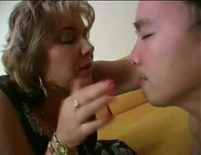 Smelling French woman's spit (saliva)