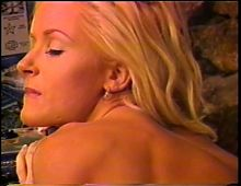 Horny white slut gets her pink pussy licked by buff black stud